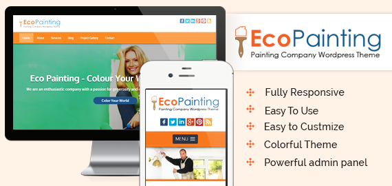 ECOPAINTING - PAINTING COMPANY WORDPRESS THEME - Niche WP Themes For Your Painting, Dance or Lawn Care Websites