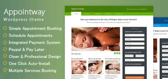APPOINTWAY - WORDPRESS APPOINTMENT BOOKING THEME