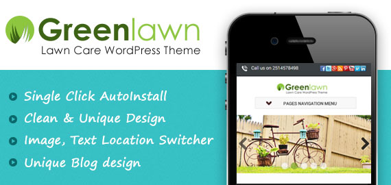 Green Lawn Care WordPress Theme
