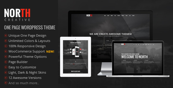 North - One Page Parallax WordPress Theme 1