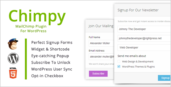 Chimpy - MailChimp WordPress Plugin 1