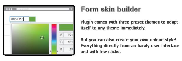 Form skin builder