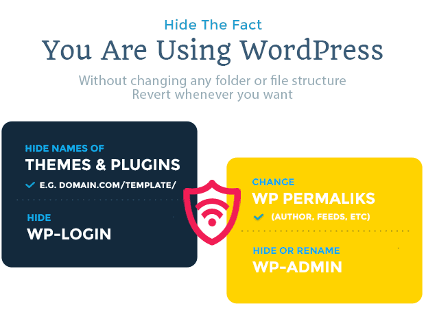 Hide My WP - No one can know you use WordPress! 3