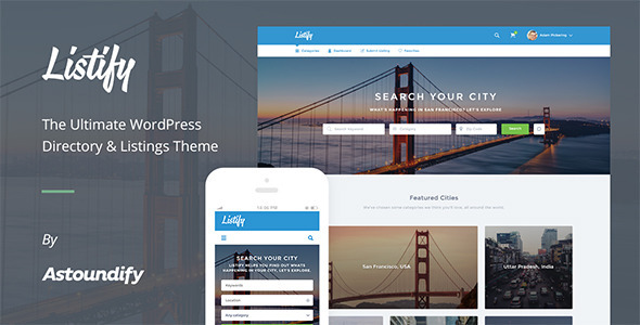 Listify - WordPress Directory Theme 1