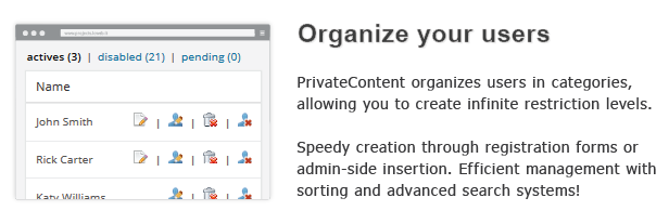 Organize your users
