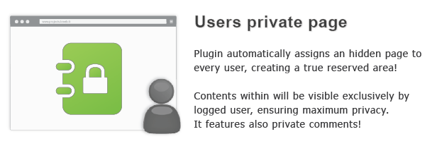 Users private page