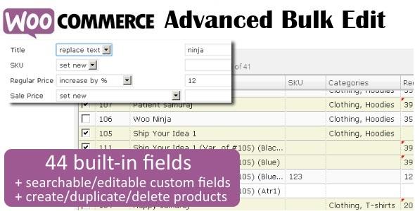 WooCommerce Advanced Bulk Edit 1