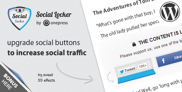 Social Locker for Wordpress 1