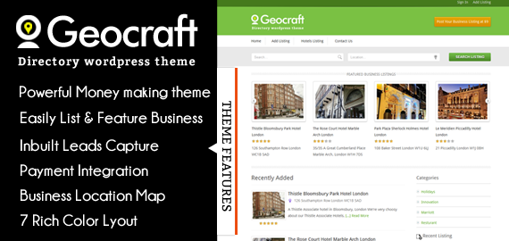 WordPress business directory theme