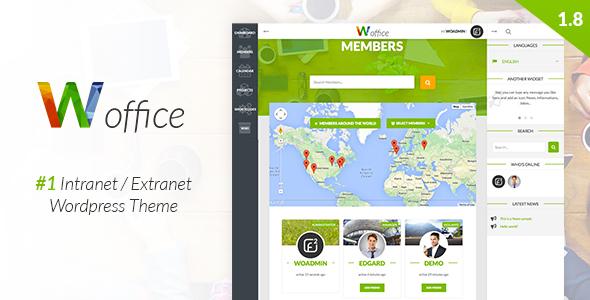 Woffice - Intranet/Extranet WordPress Theme 1