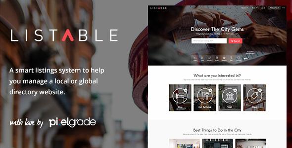 LISTABLE – A Friendly Directory WordPress Theme 1