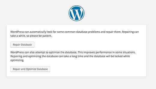 How to fix can not update database after updating WP Version