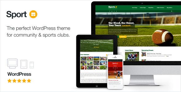 Sport - WordPress Club Theme 1