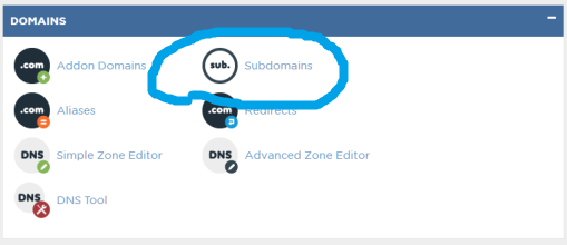 how to create subdomains in cpanel