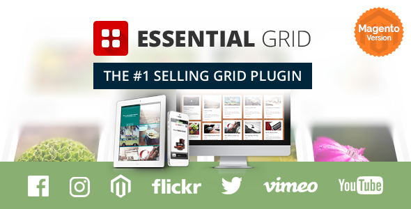 Essential Grid WordPress Plugin - available for Magento